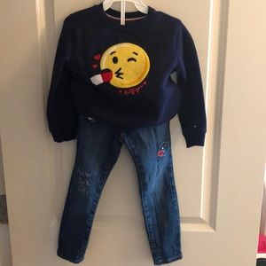 Tommy Hilfiger sweater and jeans